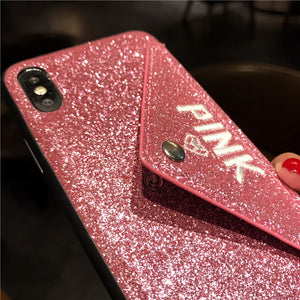Glitter Leather Luxury 3D Cover for iPhone 11 pro X XS Max XR 8 7 6 S - Cheap Phone Case