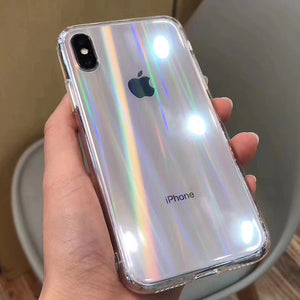 Gradient Rainbow Laser Cases For iPhone X XS Max XR 11 XR 7 8 Plus - Actual Phone Case