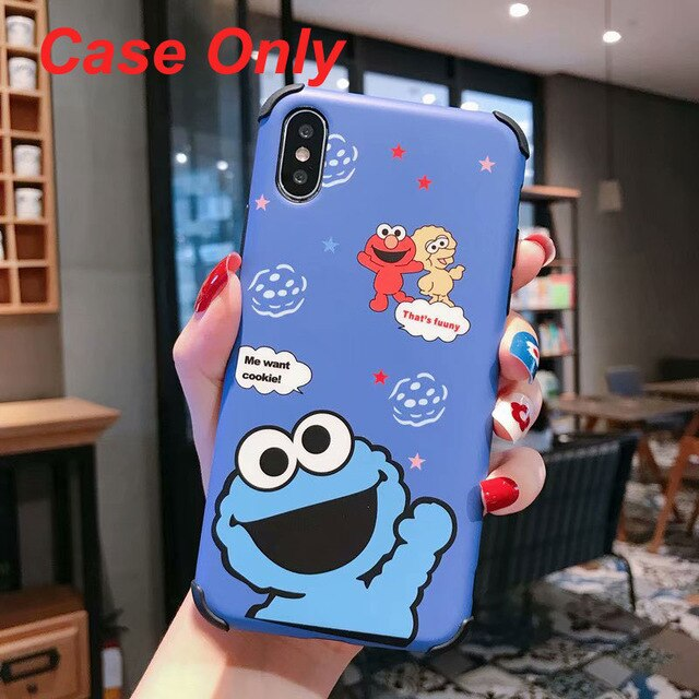 3D Sesame Street Phone Case For iphone 11 X 8 XS XR Xs Max plus cover - Actual Phone Case