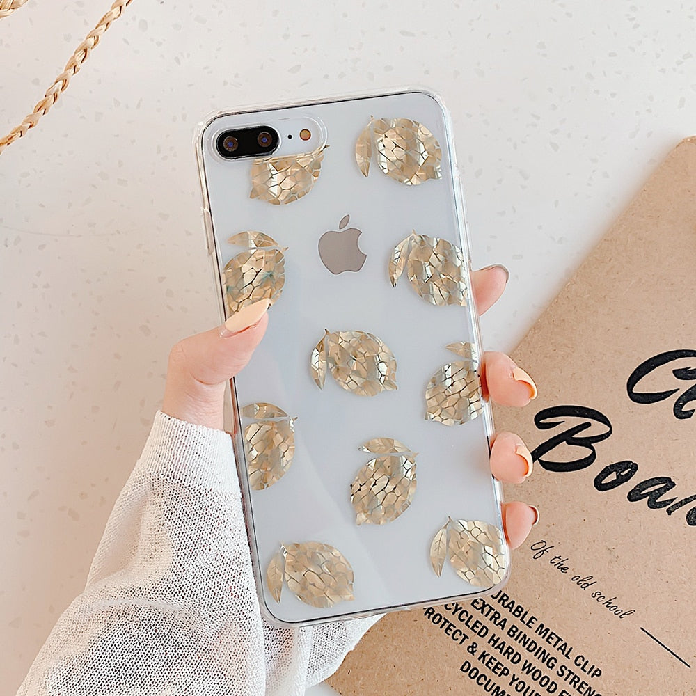 Phone Case iPhone 11 Pro Max XR XS Max 7 8 Plus X Clear Electroplated - Cheap Phone Case