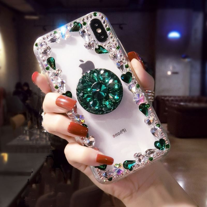 Glitter diamond 3D phone case for iphone X XR XS MAX 7 8 plus - Actual Phone Case