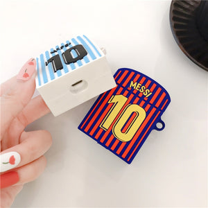 Cool Football Argentina Messi No. 10 Cases For Apple Airpods 1/2 - Actual Phone Case