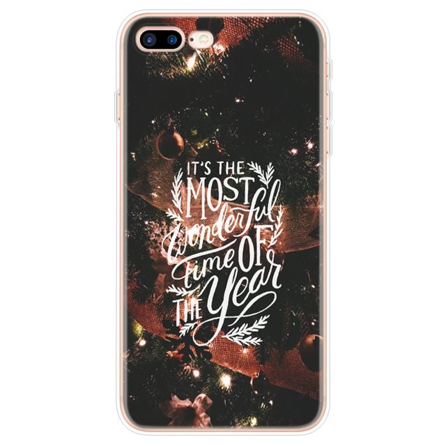 Case For iPhone  6 6S 7 8 Plus Christmas New Year Deer - Cheap Phone Case