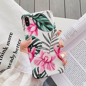 Phone Case For iPhone 11 or iPhone 11  Pro or iPhone 11Pro Max Floral Soft - Actual Phone Case
