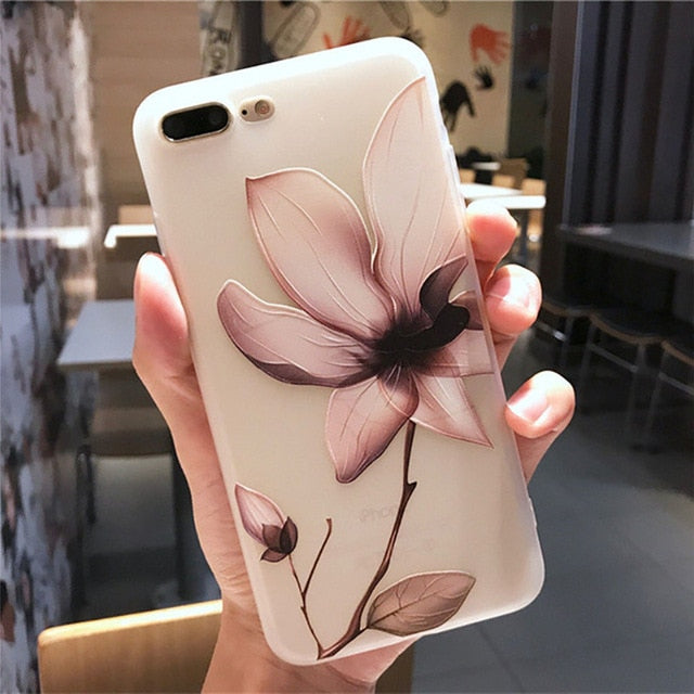 iPhone 11 Pro Plus Shockproof Flower Phone Case - Actual Phone Case