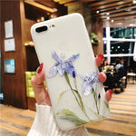 iPhone  8 Plus X XS MAX XR Shockproof Flower Phone Case - Actual Phone Case