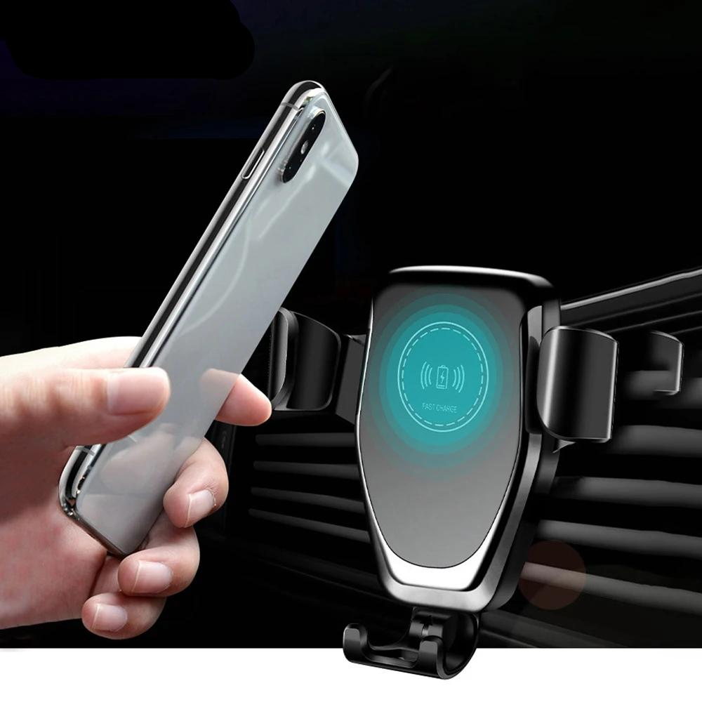 Wireless Car Charger Mount For IPhone 11 XS XR X 8 Samsung S10 S9 - Actual Phone Case