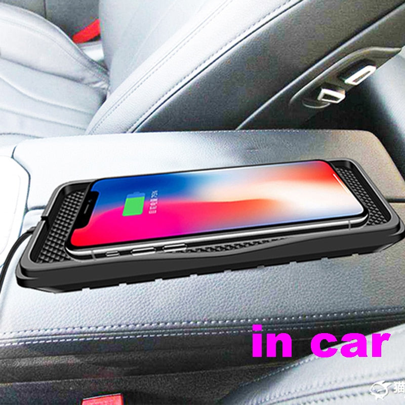 10W QI Car Charger  Wireless Charger pad for phone charger - Actual Phone Case