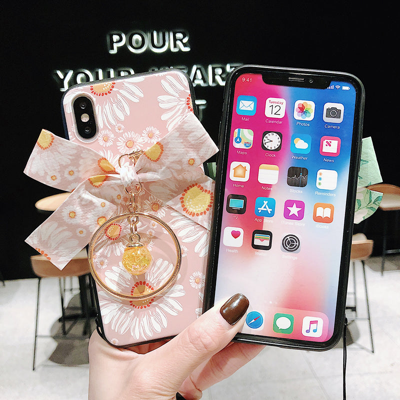 3D flower lanyard phone case for iphone X XR XS MAX 11 Pro Max 8 Plus - Actual Phone Case