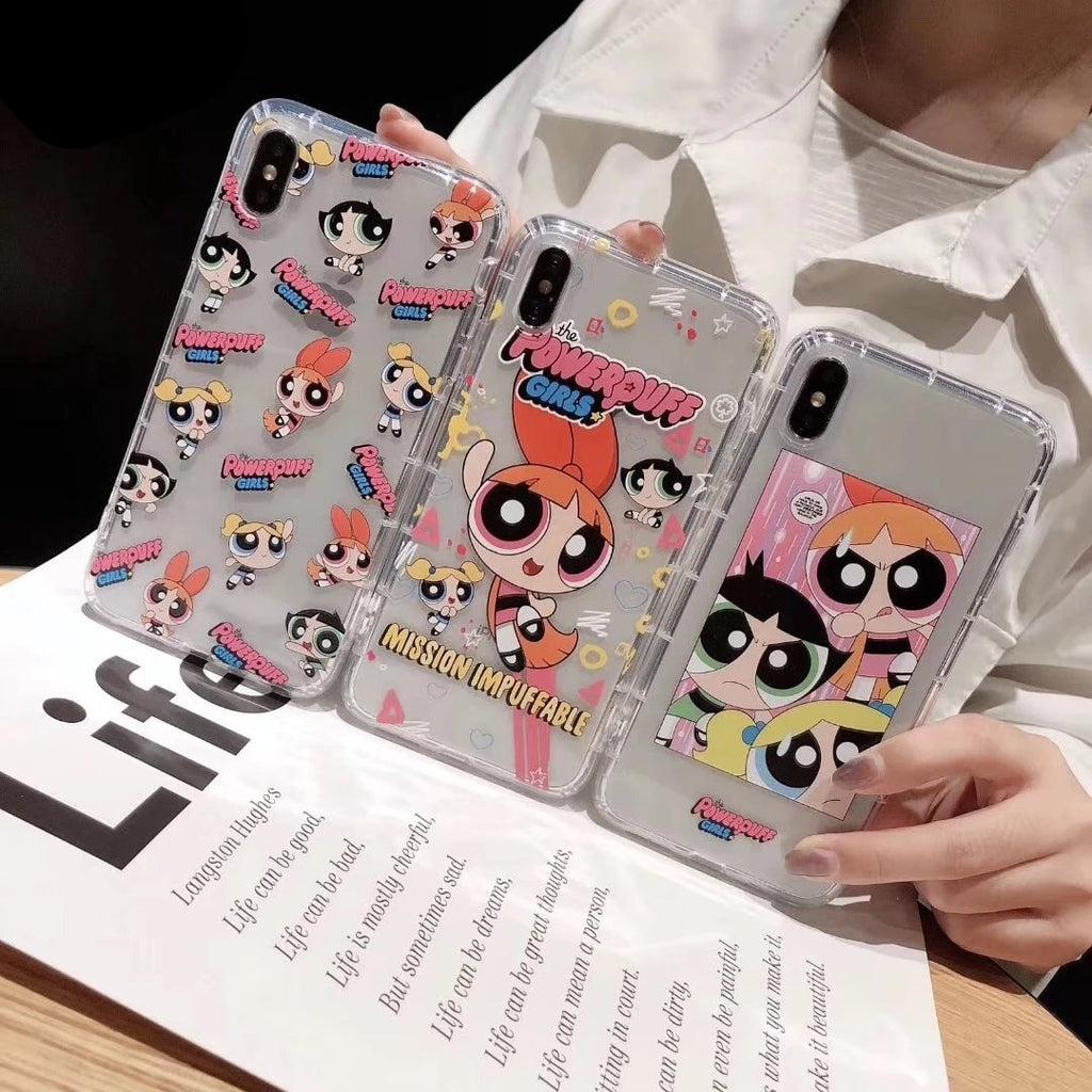 Cute Powerpuff Girls iPhone case 11 Pro XS X Max Xr 8 7 6 s Plus - Cheap Phone Case