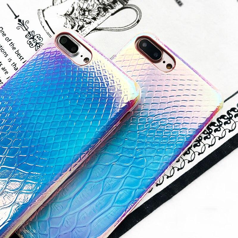 Crocodile Laser Phone Case For iPhone 11 Pro Max XR XS Max 8 Plus X - Cheap Phone Case