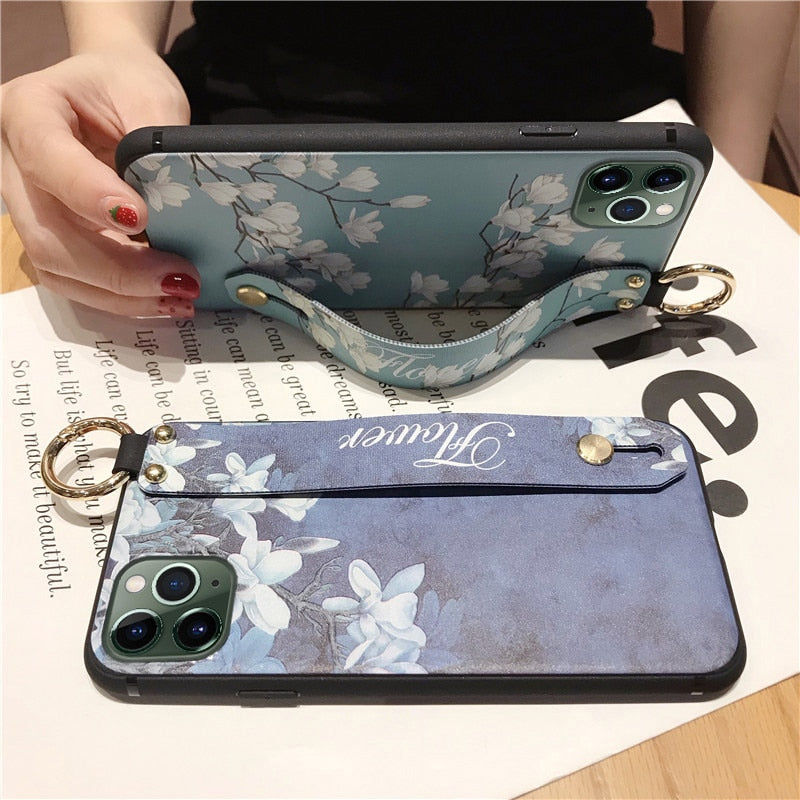 Wrist Strap Holder Cases For iPhone 11 Pro Max 7 8 6 6S Plus X XS Max XR - Cheap Phone Case