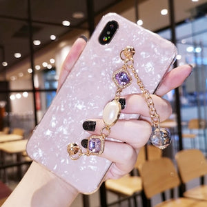 Diamond chain bracelet shell phone case for iPhone 11 8 plus X XS max XR - Actual Phone Case