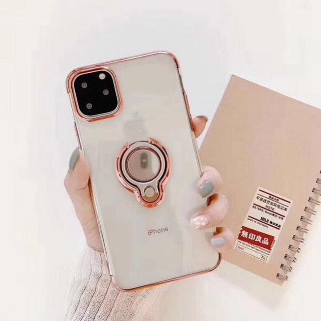 Case For iphone 11 Pro XS MAX XR X  7 8 plus Magnet Holder plus - Actual Phone Case