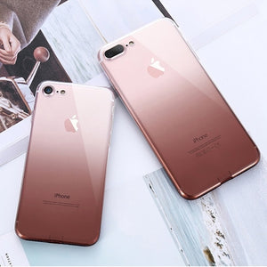 iPhone 7 8 Plus iPhone XR X XS MAX Ultra Thin Cases For 6 6S Clear - Actual Phone Case