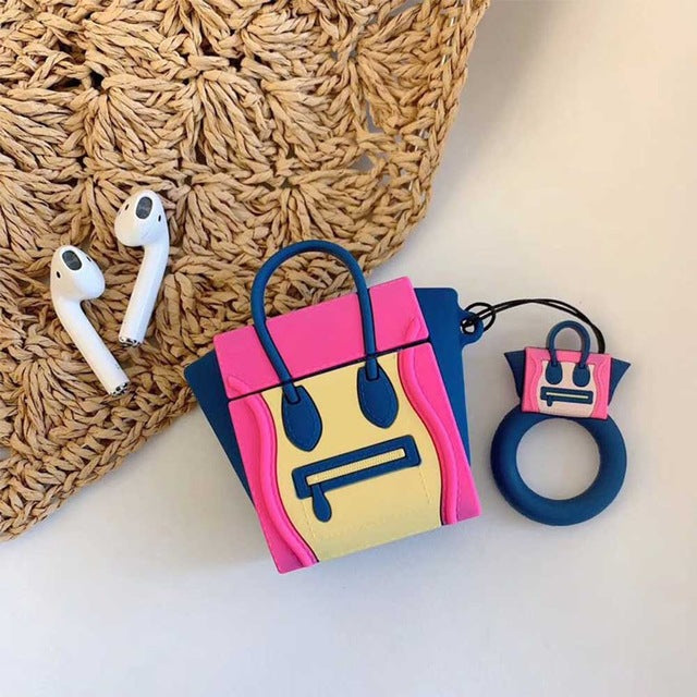 3D Luxurious Brand Handbag Tote Hobo Bag Cases For Apple Airpods 1/2 - Cheap Phone Case