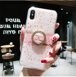 Gold Foil Bling Marble Cases For iPhone X XS XR 11 Pro Max 3D Bee Soft - Actual Phone Case