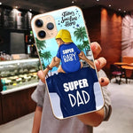 Family Cover For iPhone Case 11 11 Pro Max Super Mom Dad Black Hair Girl - Cheap Phone Case