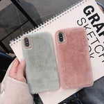 iPhone 11 Pro Max luxury Plush warm case for iPhone XS Max XR 7 8 plus - Cheap Phone Case