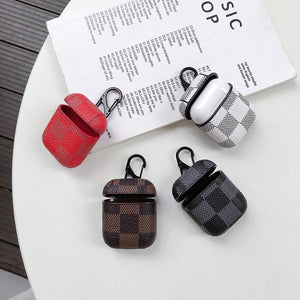 For Apple Airpods Cases Luxury PU Leather Cover For AirPods 1 2 Hook - Cheap Phone Case