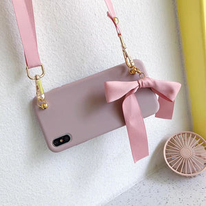Bow tie bag soft phone case for iphone 6 7 8 Plus X XS XR MAX 11 Pro - Actual Phone Case