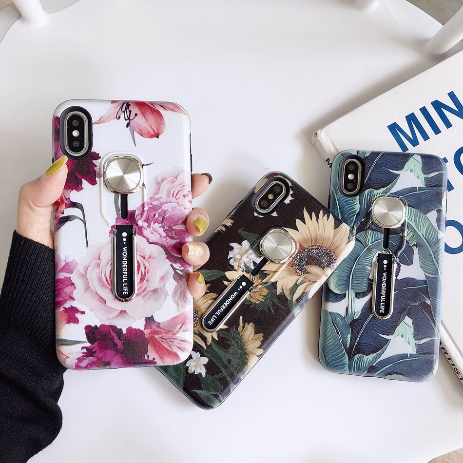 Luxury Flower Hide Loop Case For iPhone 11 11Pro 11 Pro Max XS Max - Cheap Phone Case