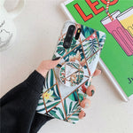 Plated Flower Case For Samsung Note 10 Plus Note 9 S8 S9 S10 Plus Cover - Actual Phone Case