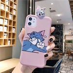 3D Tom Cat Jerry Mouse Scrub iphone 11 MAX XR XS 8 plus phone cases - Actual Phone Case