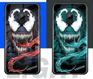 Luxury Luminous Tempered Glass Case For iPhone 11 Pro MAX XS MAX XR 8 7 - Actual Phone Case