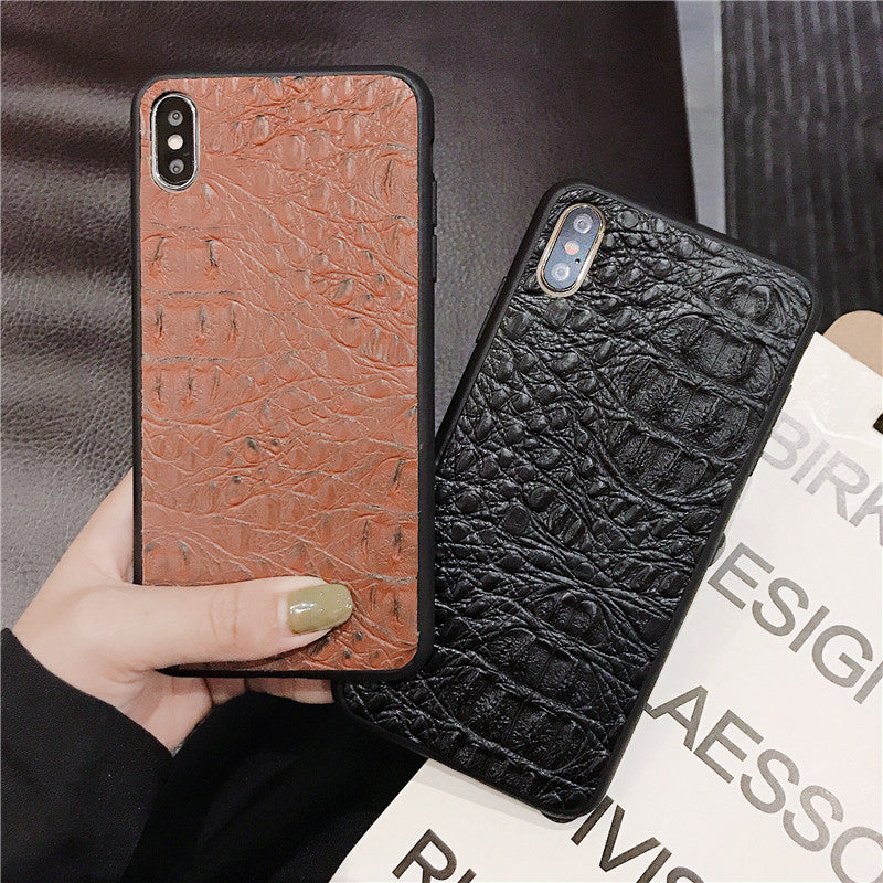 Crocodile pattern leather case For Samsung Galaxy S9 Plus s10 note 10 - Actual Phone Case