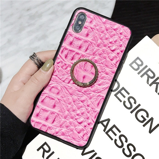 Crocodile pattern leather case For Samsung Galaxy S9 Plus s10 note 10 - Cheap Phone Case