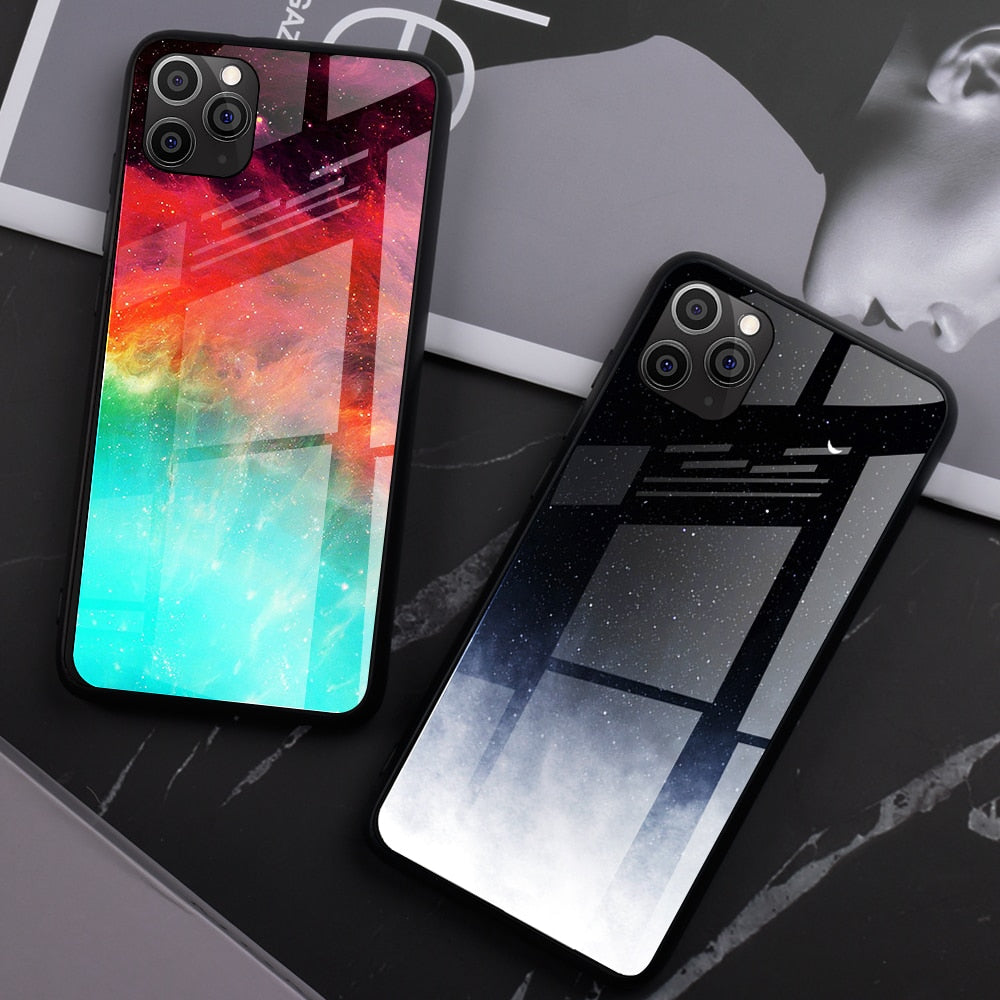 Tempered Glass Case For iPhone 11 Pro Max X XR XS Max 8 7 Protective Back - Cheap Phone Case