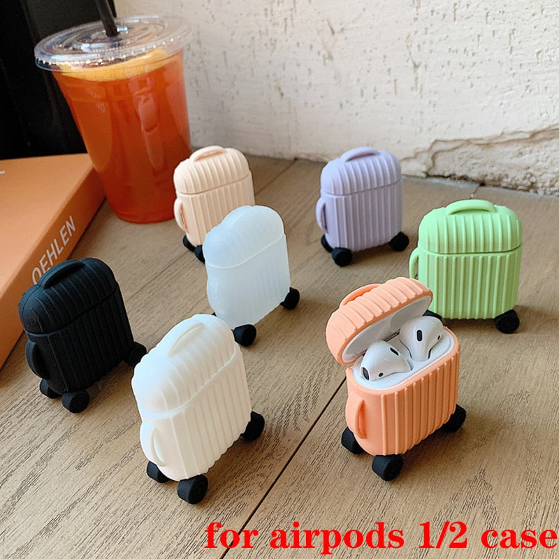 For AirPods Case Cute Simple mini box cartoon Accessories - Actual Phone Case