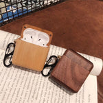 Nature  Wooden Headset Sleeve for Apple AirPods Case Bluetooth Sleeve with - Cheap Phone Case