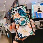 Luxury Flower Stand Case For iPhone 11 Pro Max X XR Xs Max 7 8 Plus case - Cheap Phone Case