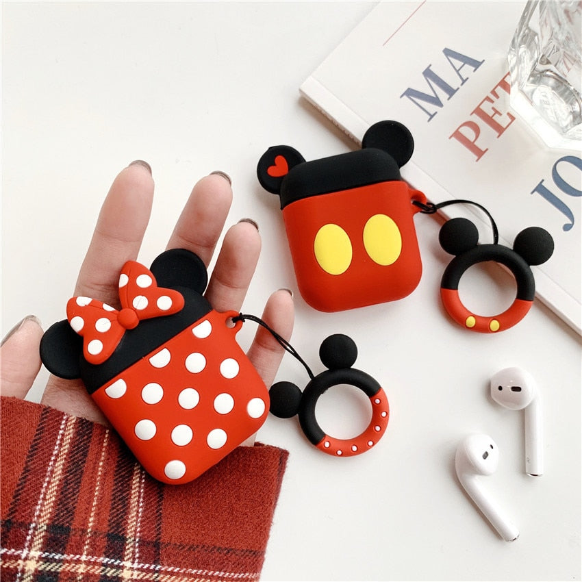 3D Doll Cute Cartoon Case For Apple Airpods Wireless Bluetooth Coque - Actual Phone Case