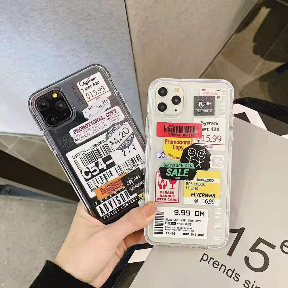 Luxury street brand label Barcode phone case for iphone 11 pro max 7 8 plus - Actual Phone Case