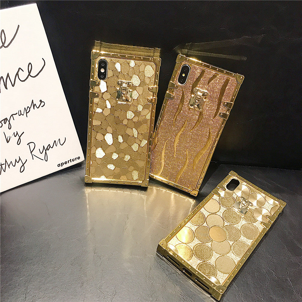 Fashion Deluxe Gold Case For Samsung S8 S9 S10 Plus Note 8 9 10 Pro - Actual Phone Case