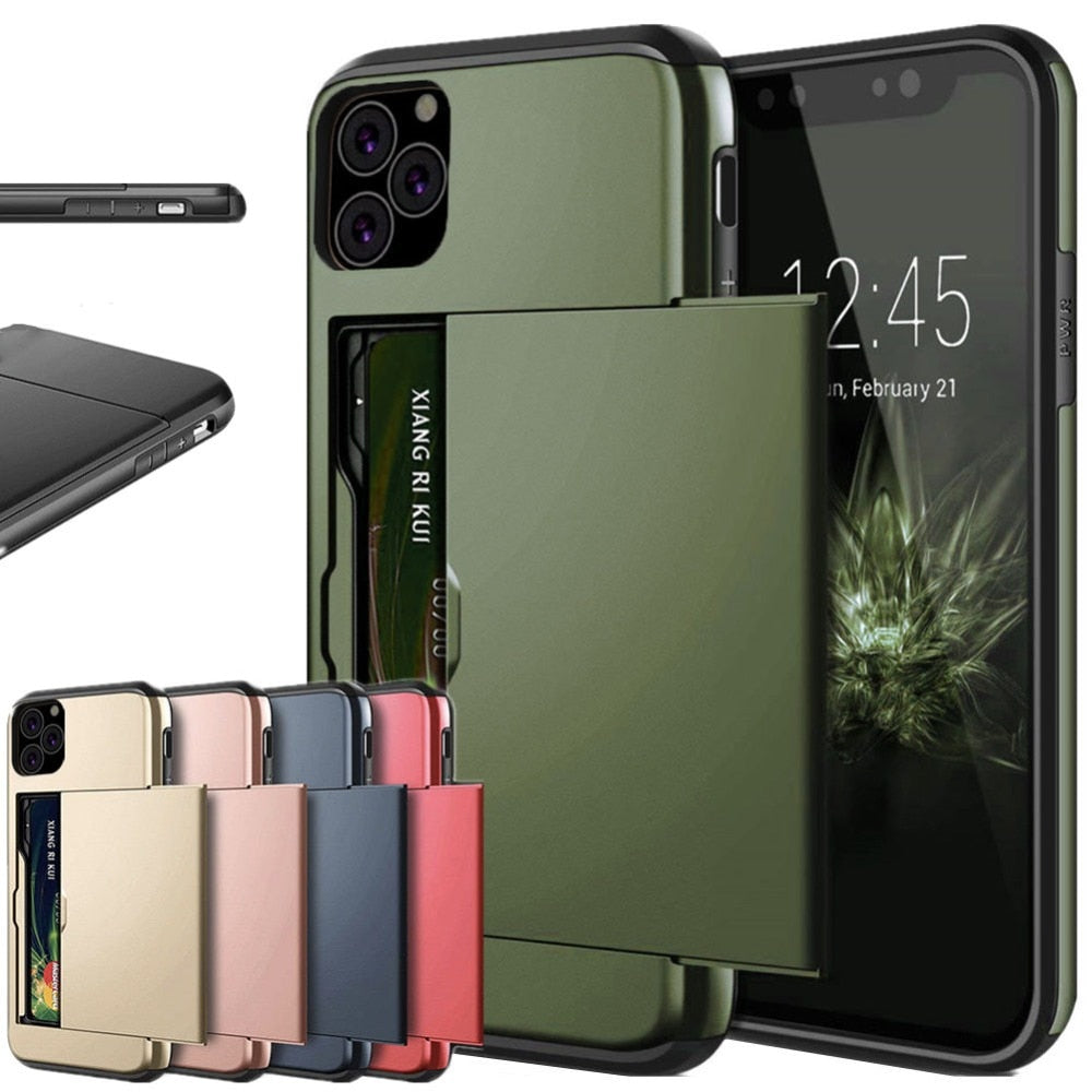 Business Phone Case For iPhone 11 Pro MAX XR XS X 10 Case Slide Armor - Actual Phone Case