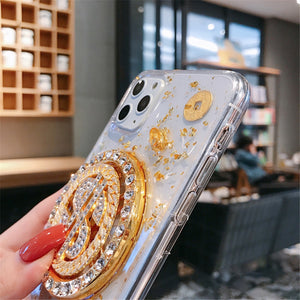 Jewelry Rotating Dollar Phone Case for iphone 11 Pro XS Max XR X 8 Plus - Actual Phone Case
