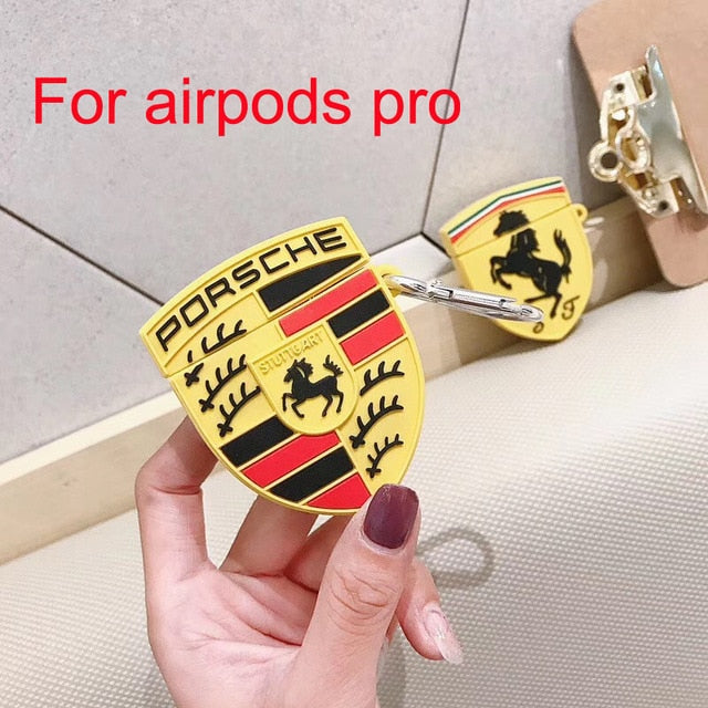 3D Earphone Case For Airpods Pro Case Silicone Cool logo - Actual Phone Case