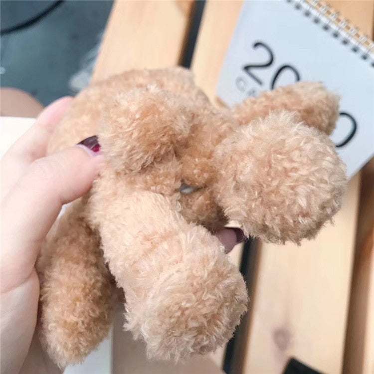 Fluffy Cartoon Bear Case for Airpods 2 1 Furry Cloth Wireless - Actual Phone Case
