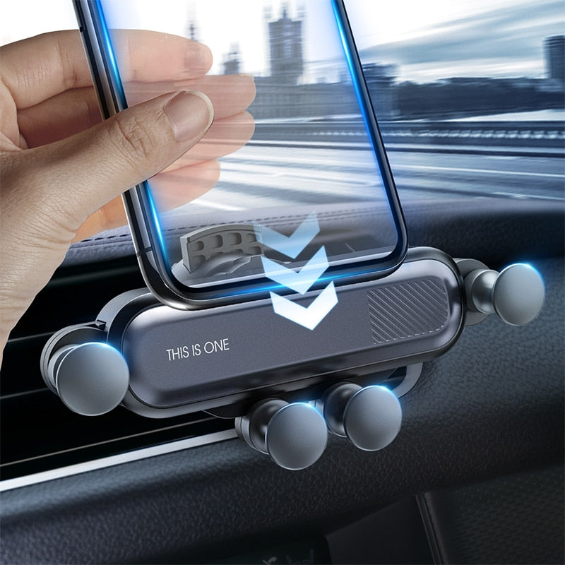 Gravity Car Phone Holder Air Vent Clip Mount No Magnetic - Actual Phone Case