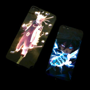 Naruto Sasuke LED Case For iPhone 11 pro XR X XS MAX 8 7 Plus cover - Actual Phone Case
