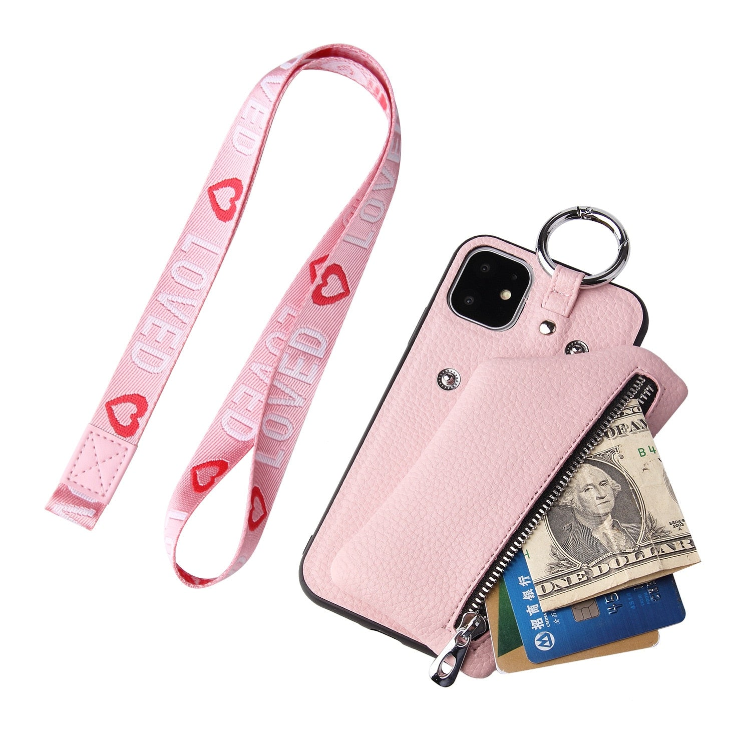 Coin Purse Case For iPhone 11 Pro Max XR XS MAX 7 8 Zero Purse Cell - Actual Phone Case
