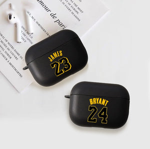 Black Basketball fans bryant James case for Airpods pro with keychain - Actual Phone Case