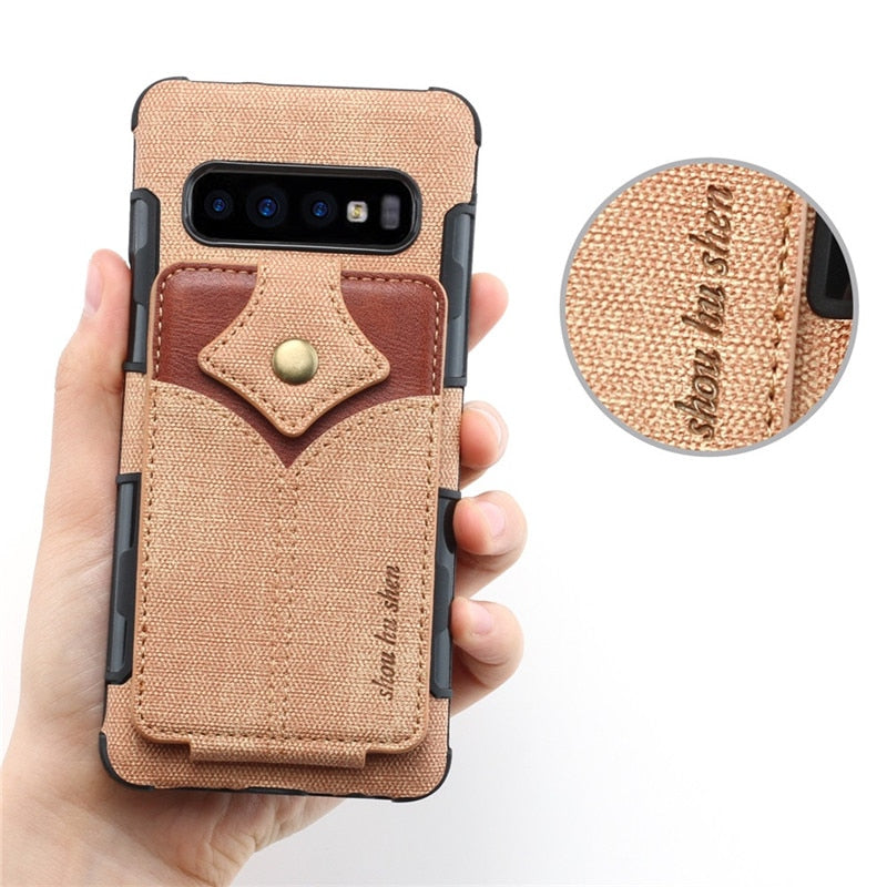 Wallet Leather Case For Samsung Galaxy Note8 Note9 S10 S8 S10 Plus - Actual Phone Case