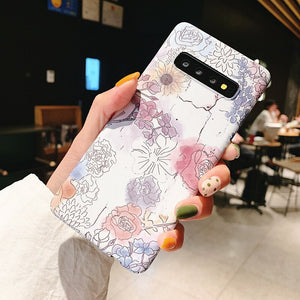 3D Relief Matte Case for Samsung Galaxy S20 Ultra S10 Plus e S9 S8 - Actual Phone Case