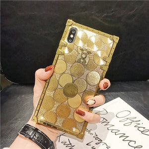 Deluxe Gold Flash Phone Case For iPhone 11 Pro MAX XS MAX XR X 8 Plus - Actual Phone Case