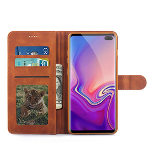Luxury Leather Case For Samsung Galaxy S10 S8 S9 plus  Note 10 case - Cheap Phone Case